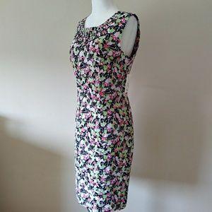 NWT Linen Sheath Sleeveless Midi Dress Sz 10